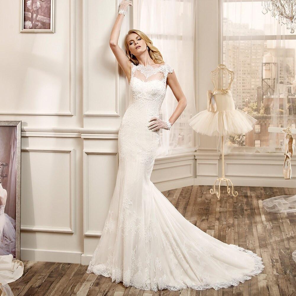 Sexy Hochzeitskleid  2017 Vintage Bateau y Backless Wedding Gowns vestido de