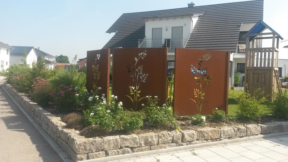 Sichtschutz Im Garten  Sichtschutz mit Motiv ganz individuell hier vergleichen