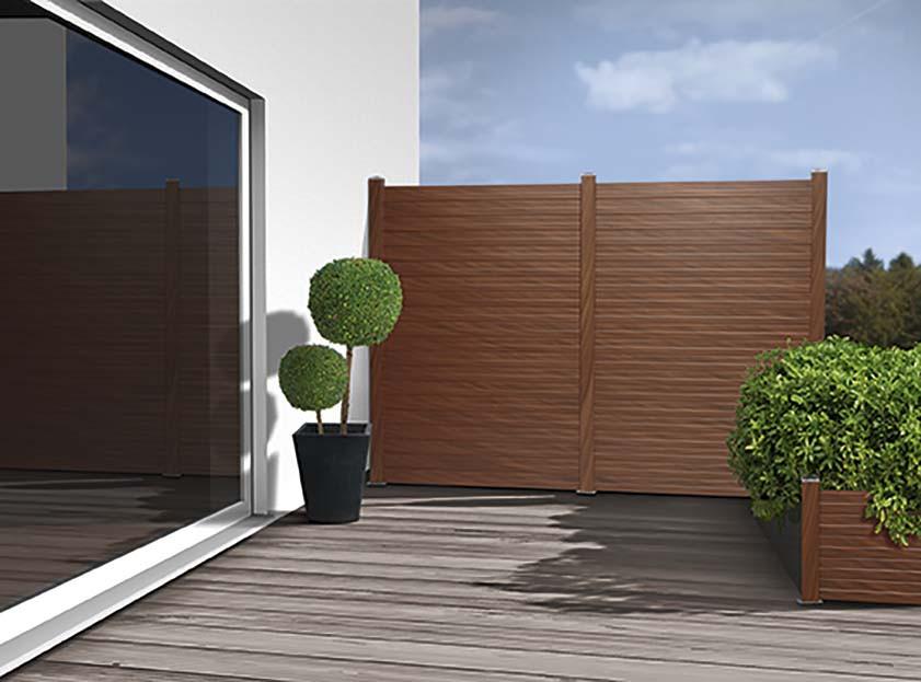 Sichtschutz Terrasse Kunststoff  Sichtschutz Holz Kunststoff von Ihrem Holzfachmarkt in