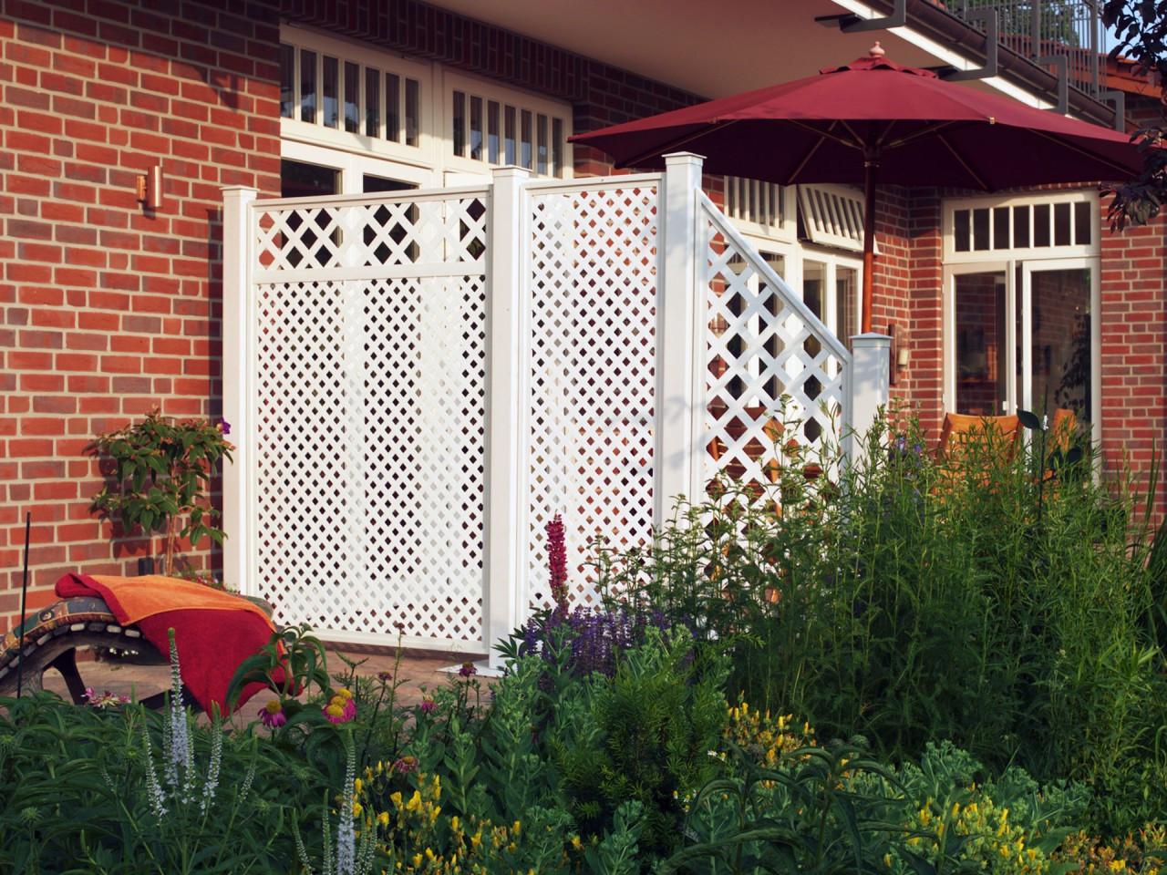 Sichtschutz Terrasse Kunststoff  Sichtschutzwände & Sichtschutzzaun Kunststoff