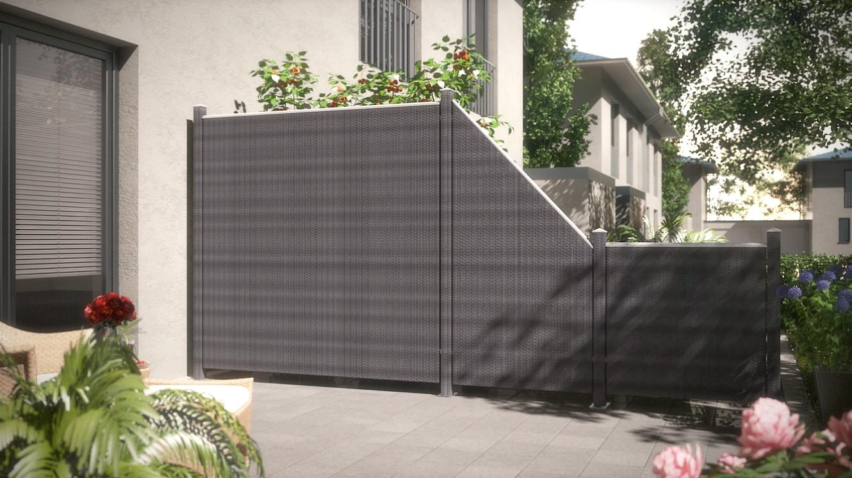 Sichtschutz Terrasse Kunststoff  Gallery of terrasse holz mit kunststoff Terrasse