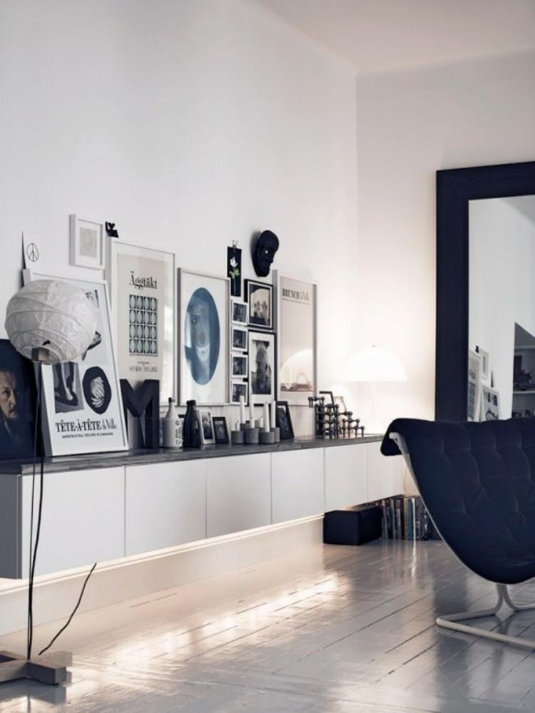 Sideboard Wohnzimmer  Ikea Besta Einheiten in Inneneinrichtung kreativ