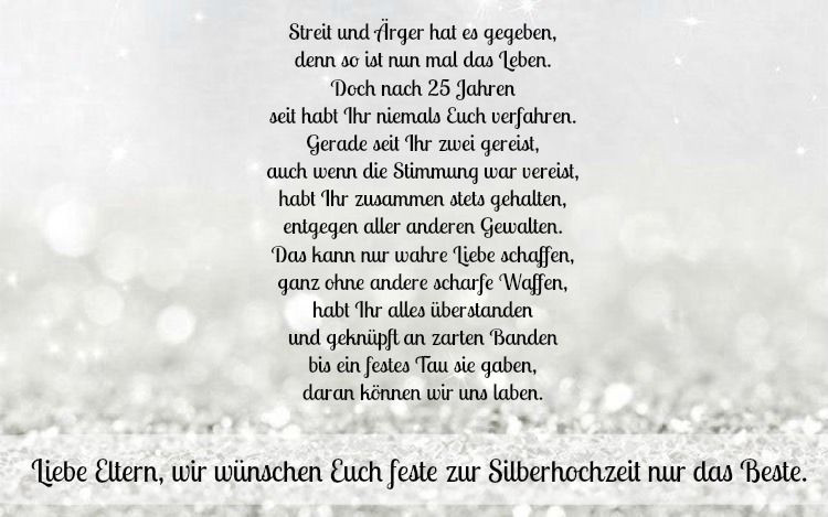 Silberne Hochzeit Sprüche  Dekoration 30 Sprüche zur Silberhochzeit Glückwünsche