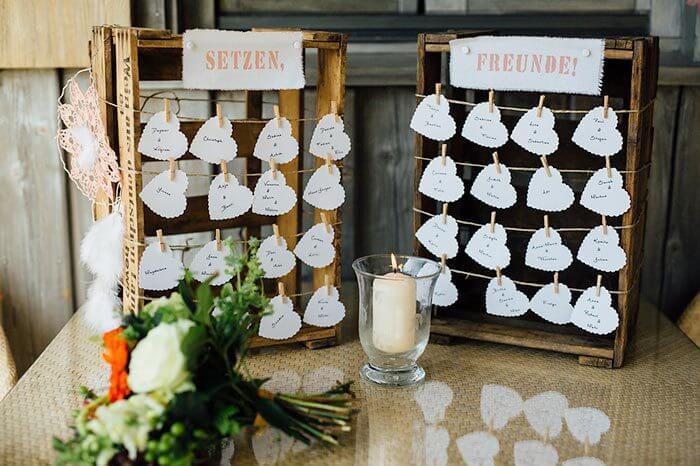 Sitzplan Hochzeit  Sitzordnung Hochzeit – 30 kreative Ideen & Inspirationen