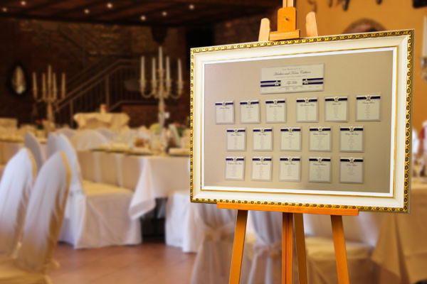 Sitzplan Hochzeit  Sitzplatztafel & Sitzplan mieten