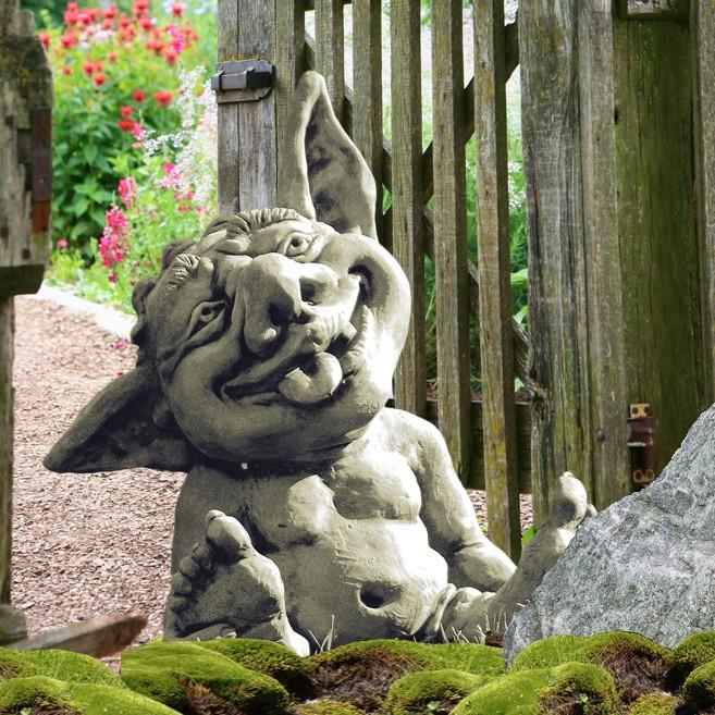 Skulptur Garten  Lachende Garten Wichtel Skulptur Frieso • Gartentraum
