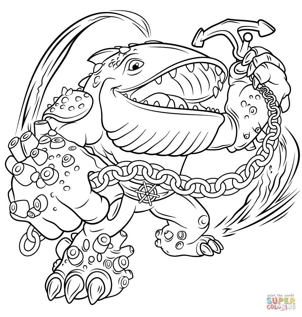 Skylander Ausmalbilder  Skylanders Giants Thumpback coloring page