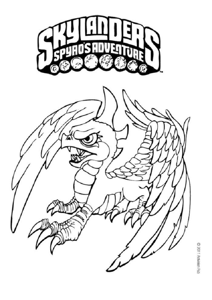 Skylander Ausmalbilder  Ausmalbilder Skylanders Giants 15