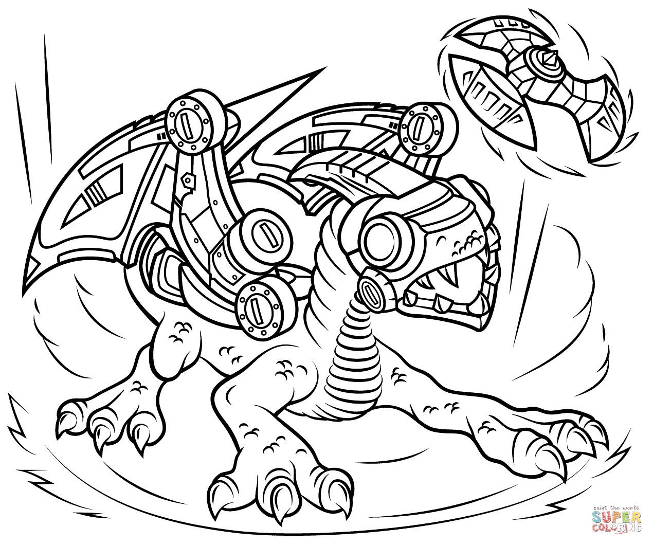 Skylander Ausmalbilder  Skylanders Drobot coloring page