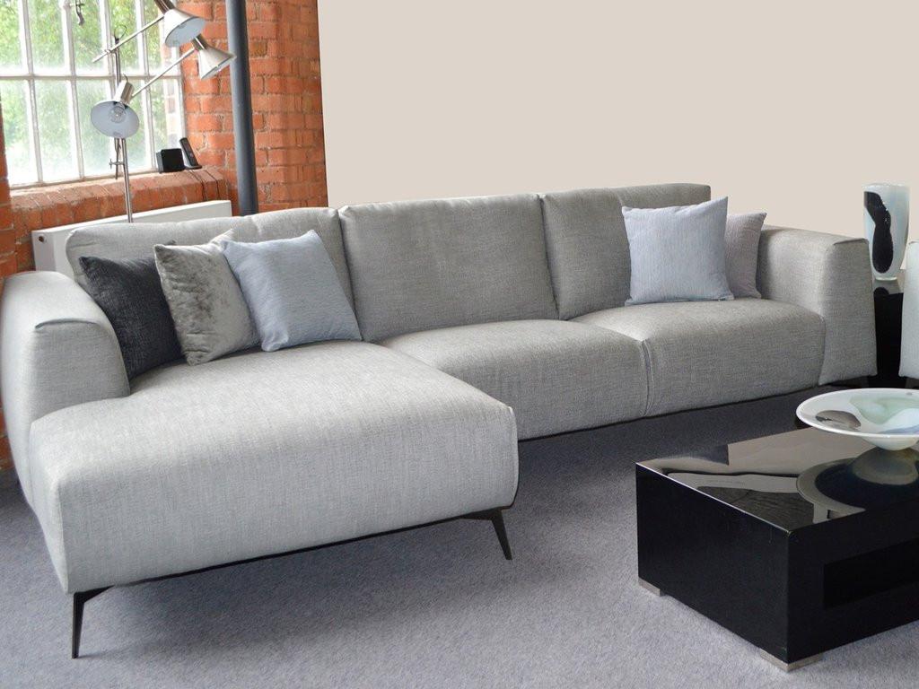Sofa Outlet  The Franco Designer Contemporary Chaise Sofas