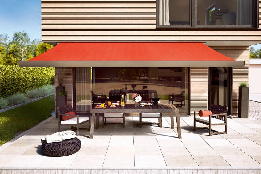 Sonnenschutz Für Terrasse  Großformatiger Sonnenschutz für Terrasse