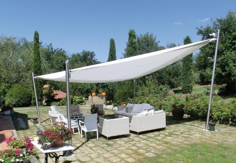 Sonnenschutz Für Terrasse  Sonnensegel als Sonnenschutz für Terrasse 44 Ideen