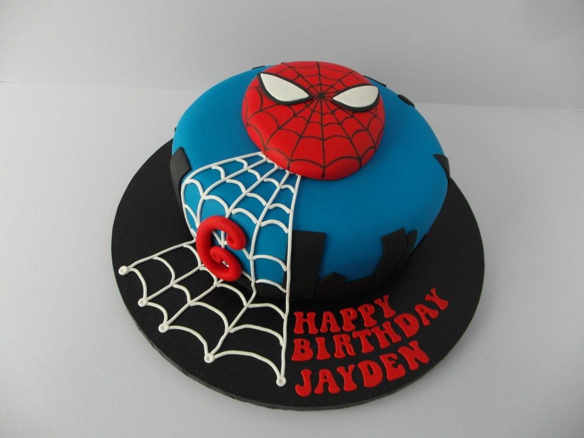 Spiderman Kuchen  Charlie 1 $105 with toy spiderman $125 with fondant