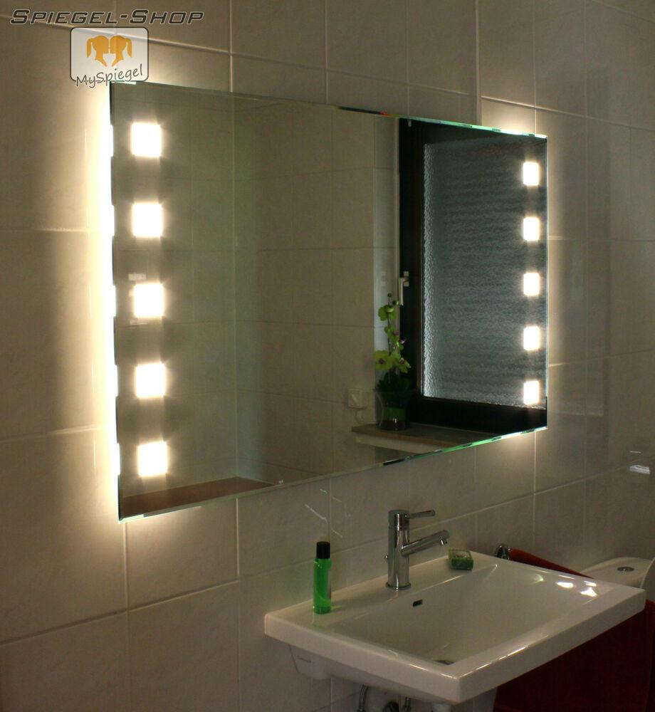 Spiegel Mit Beleuchtung  LED BADSPIEGEL IN 120 X 60 CM SPIEGEL MIT BELEUCHTUNG