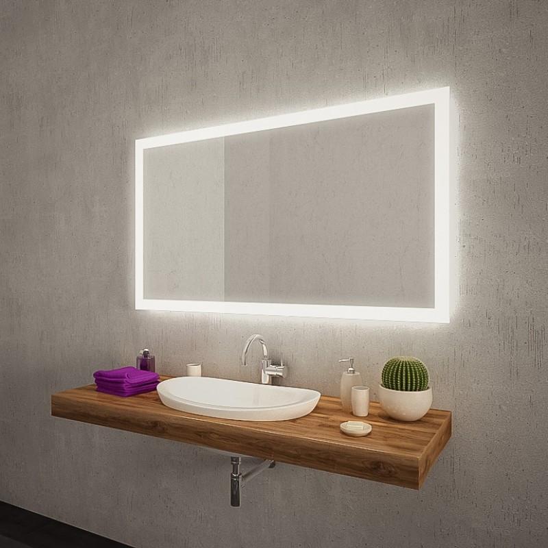 Spiegel Mit Beleuchtung  Badspiegel mit LED Beleuchtung New York M303L4
