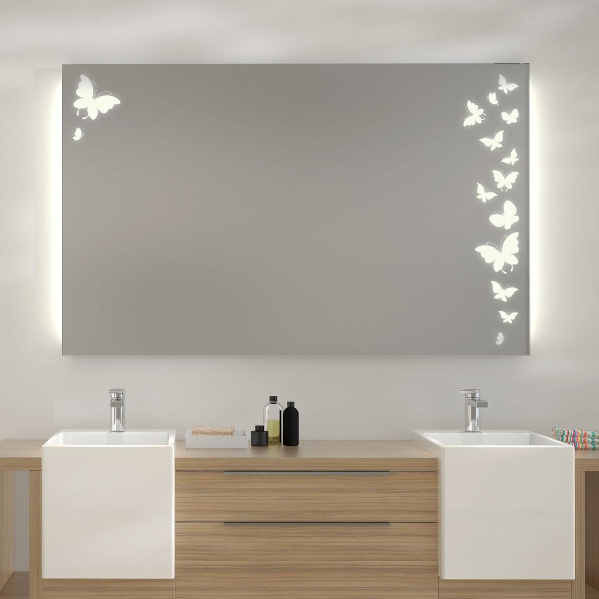 Spiegel Mit Beleuchtung  Spiegel mit LED Beleuchtung Ulm