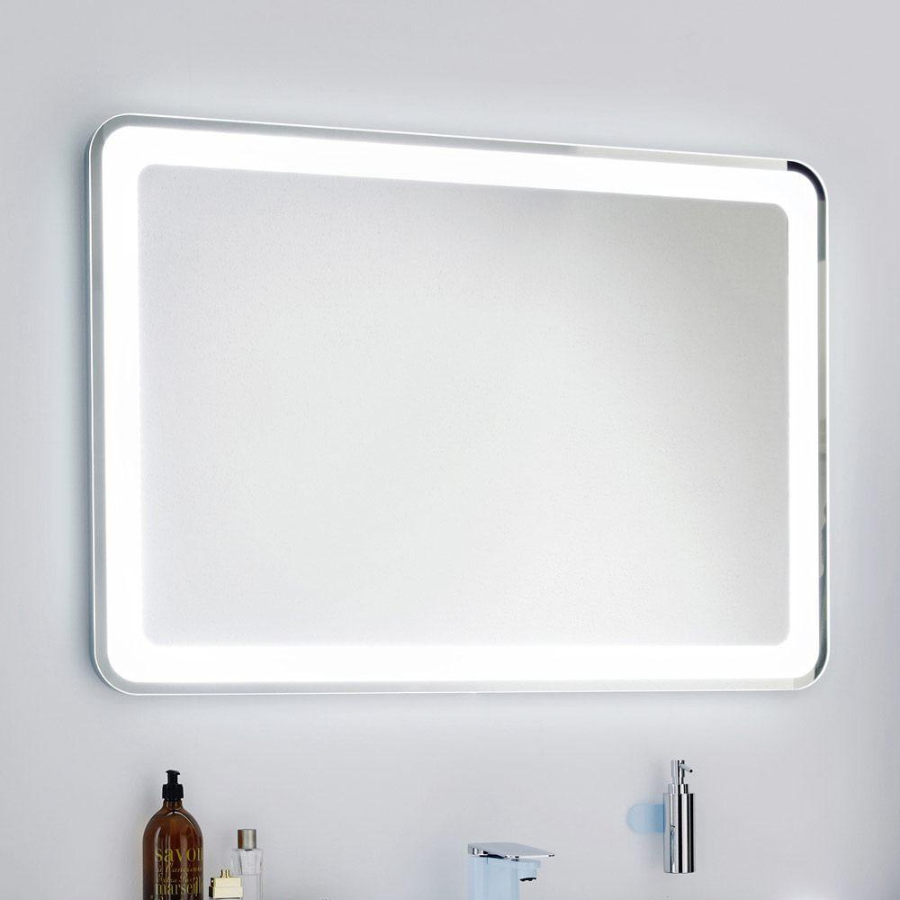 Spiegel Mit Beleuchtung  Lanzet Spiegel 120 x 84 cm mit indirekter LED Beleuchtung