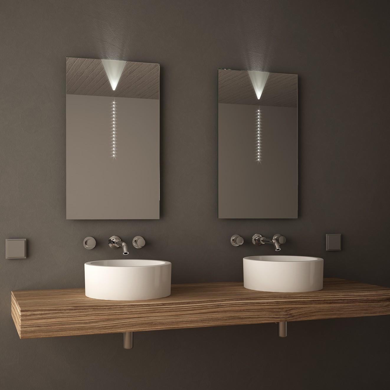 Spiegel Mit Beleuchtung  Badspiegel mit Beleuchtung Pupilla ★ LED Badspiegel