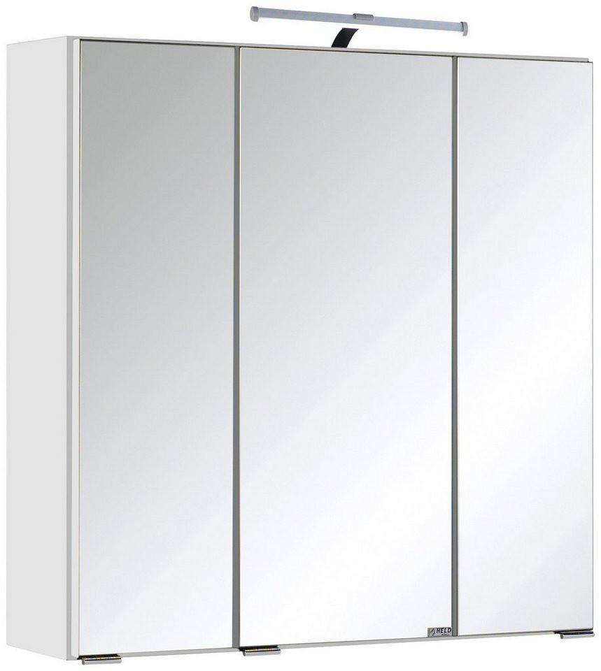 Spiegelschrank 60 Cm  Held Möbel Spiegelschrank Texas Breite 60 cm mit LED