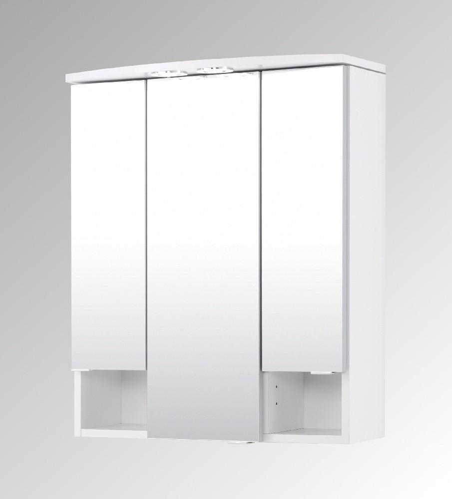 Spiegelschrank 60 Cm  Bad Spiegelschrank NEAPEL 3 türig 60 cm breit Weiß
