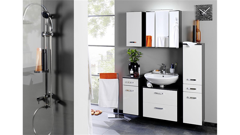 Spiegelschrank 60 Cm  Spiegelschrank BOLOGNA 60 cm Badmöbel grau Aufbauleuchte