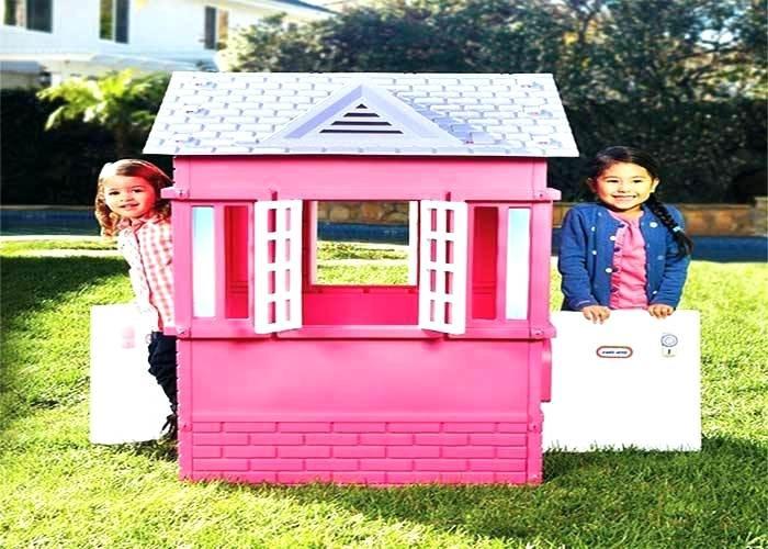 Spielhaus Garten Kunststoff  Spielhaus Garten Plastik 1 4 Kinder Spielhaus Garten
