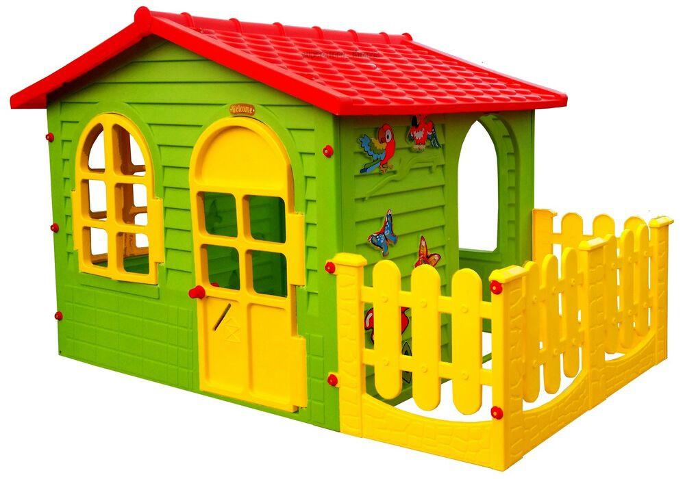 Spielhaus Garten Kunststoff  Spielhaus mit Terrasse XXL Riesiges Kinderhaus Gartenhaus