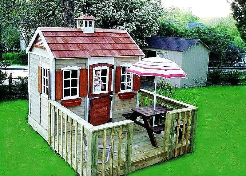 Spielhaus Garten Kunststoff  Spielhaus Modern Kinder Holz Marie Fun Aus Gartenhaus Fa 1