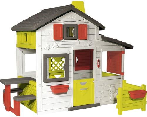 Spielhaus Garten Kunststoff  Spielhaus Smoby Friends Haus Kunststoff weiß bei HORNBACH