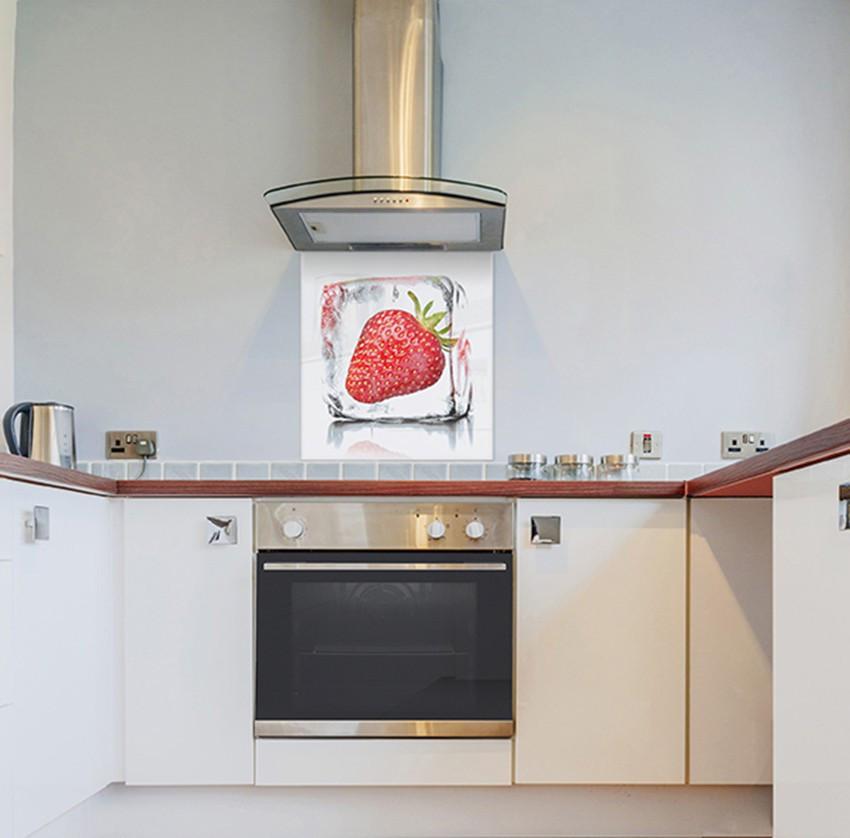 Spritzschutz Küche  Spritzschutz für Küche Strawberry Sorbet 60x65cm