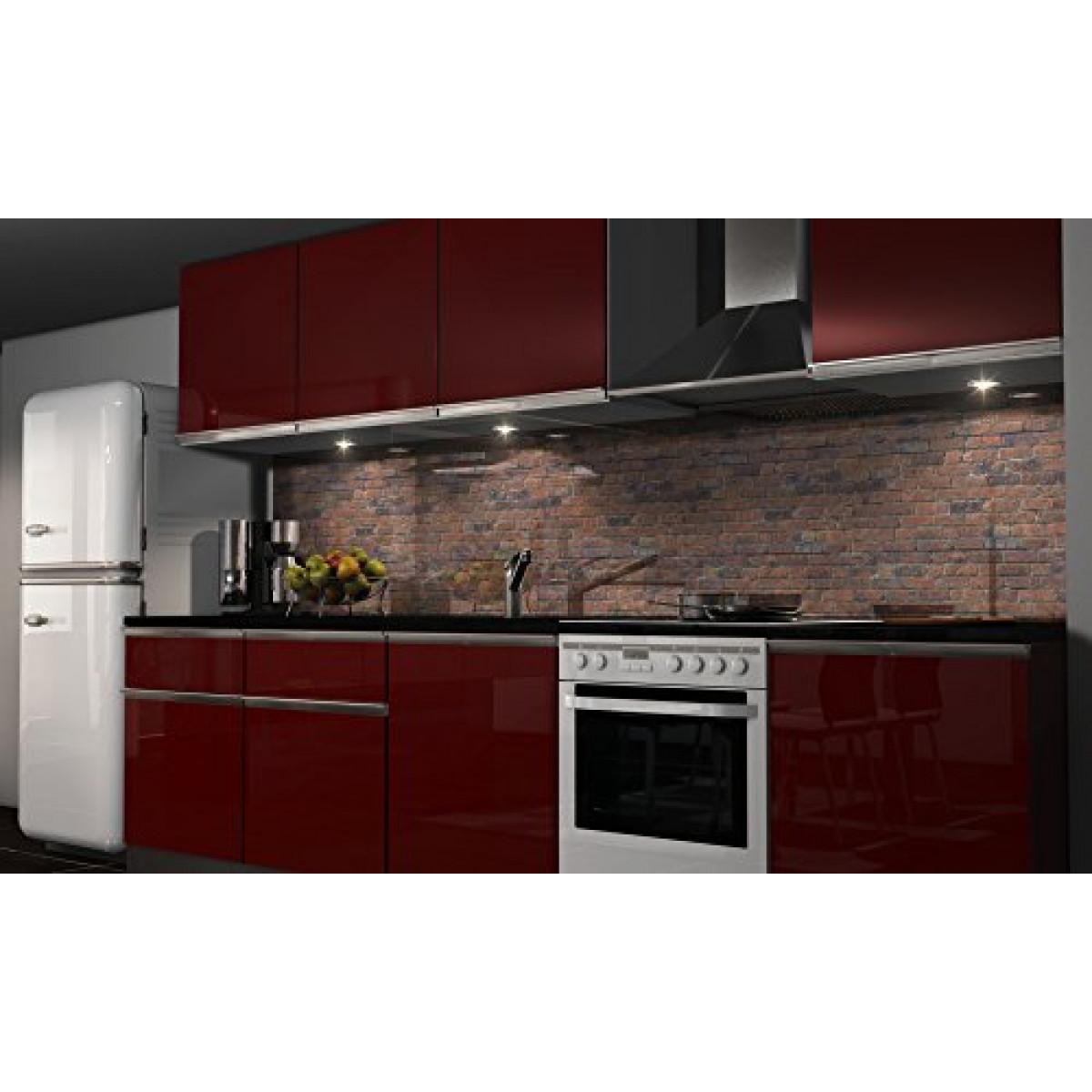 Spritzschutz Küche  Küchenrückwand Folie selbstklebend Mauer Klebefolie