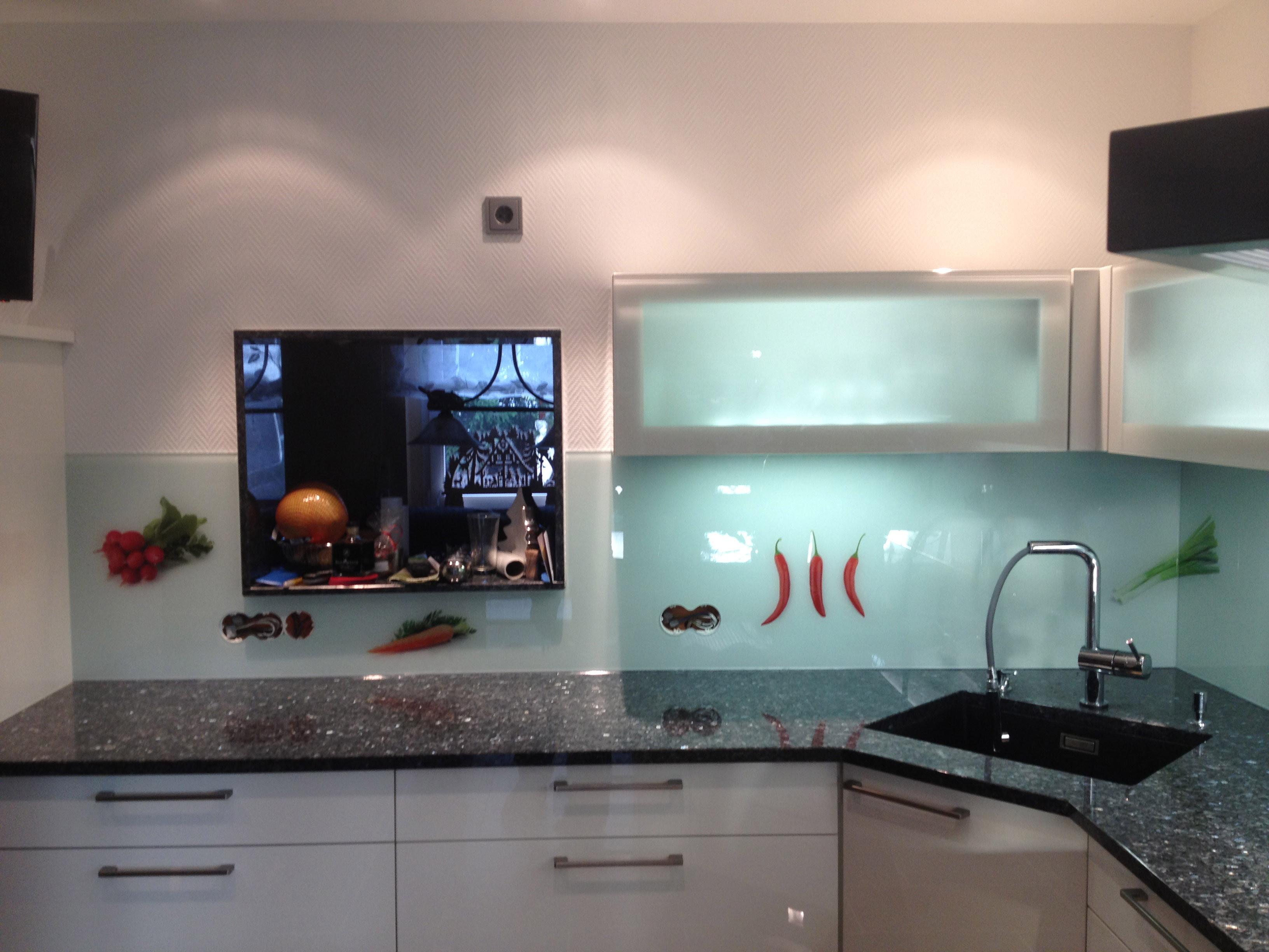 Spritzschutz Küche  Glaserei Aulich