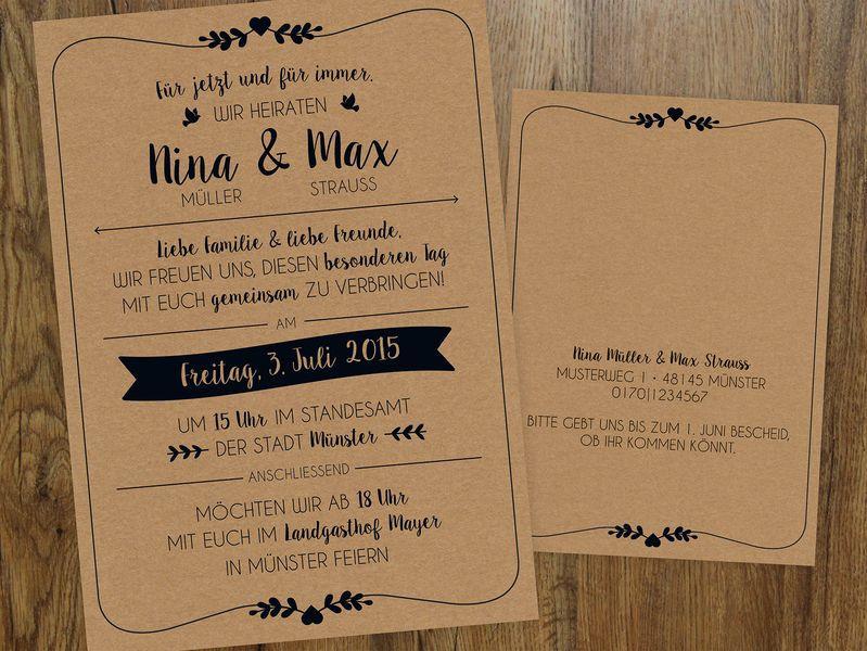 Sprüche Einladung Hochzeit  Hochzeit Einladung