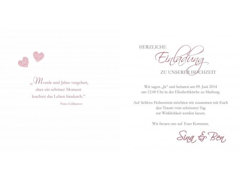 Sprüche Einladung Hochzeit  Hochzeitskarte Hochzeitseinladung Einladung Hochzeit