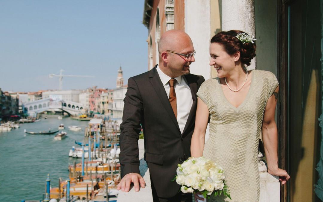 Standesamtliche Hochzeit  Katharinas und Martins standesamtliche Hochzeit in Venedig