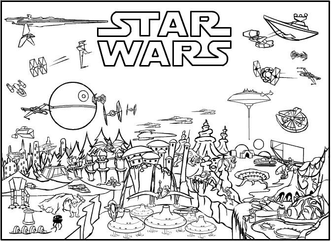 Star Wars Ausmalbilder Drucken  Ausmalbilder zum Ausdrucken Ausmalbilder Star Wars zum