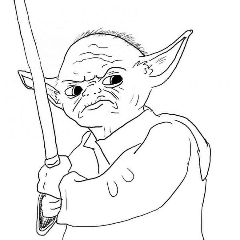 Star Wars Ausmalbilder Drucken  Ausmalbilder star wars yoda kostenlos Malvorlagen zum
