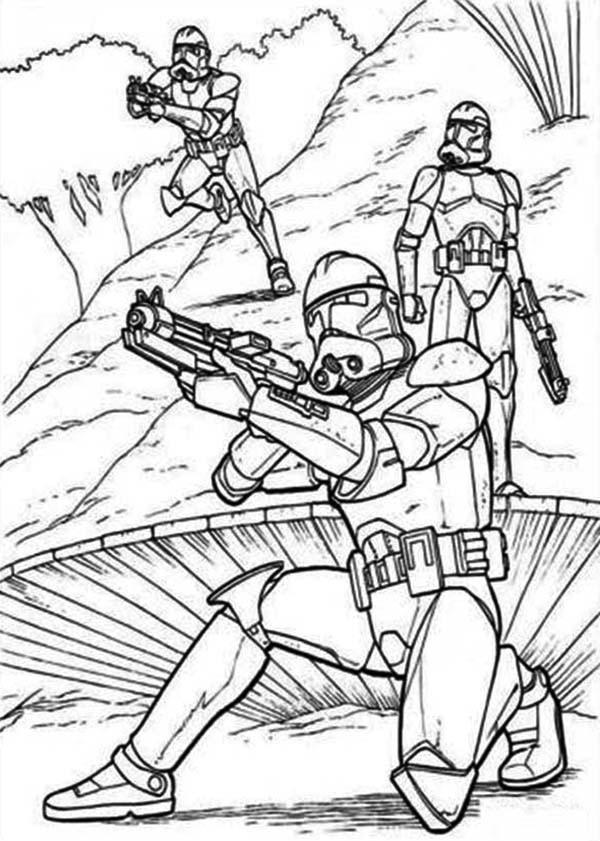 Star Wars Ausmalbilder Drucken  Malvorlagen fur kinder Ausmalbilder Star Wars Clone