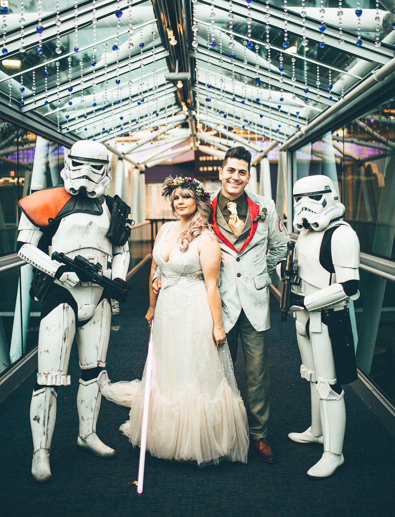 Star Wars Hochzeit  e With the Force Eine außerirdische Star Wars Themed