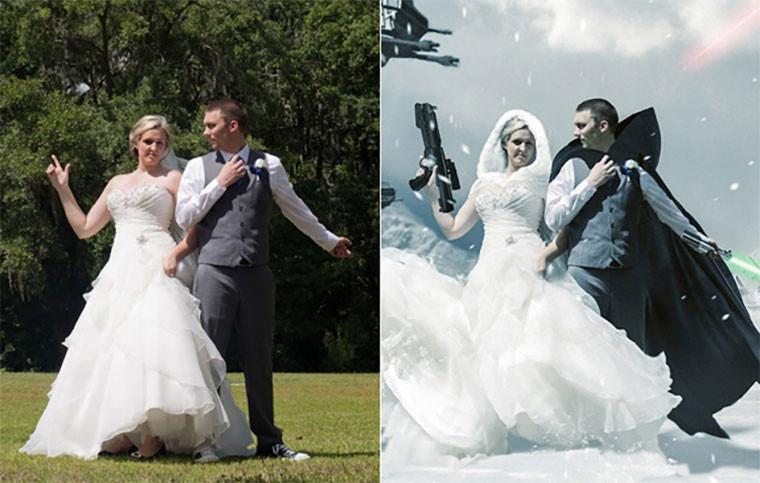 Star Wars Hochzeit  In 12 Stunden zum Star Wars Hochzeitsfoto