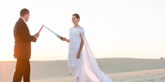 Star Wars Hochzeit  Star Wars Hochzeit Möge Liebe mit euch sein I