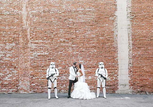 Star Wars Hochzeit  Star Wars Inspired Wedding Jennifer Joshua Green
