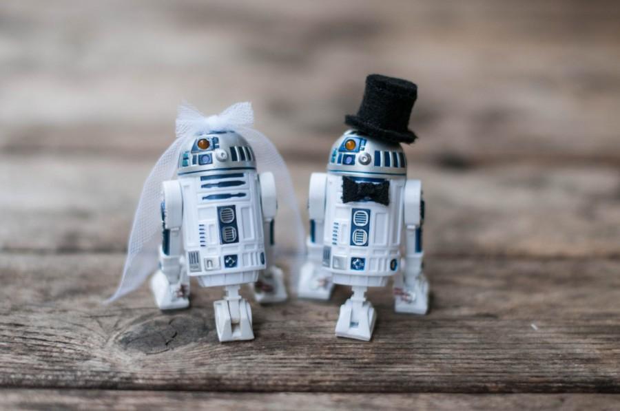 Star Wars Hochzeit  Star Wars Cake Toppers R2 D2 Cake Topper Weddbook