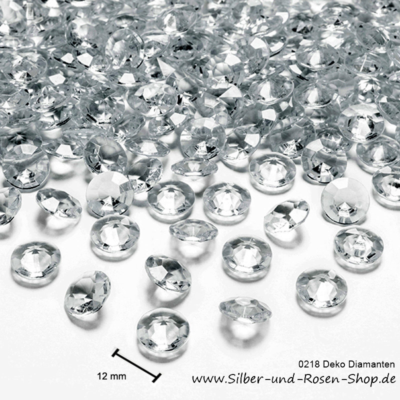 Streudeko Hochzeit  Deko Diamanten 12 mm Streudeko für Diamantene Hochzeit