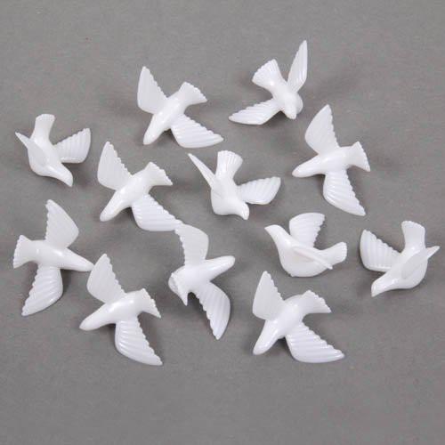 Streudeko Hochzeit  30er Pack Streudeko weiße Tauben zur Hochzeit
