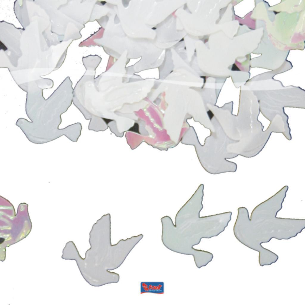 Streudeko Hochzeit  Streudeko Hochzeit Tauben Herzen gemischt weiss trans