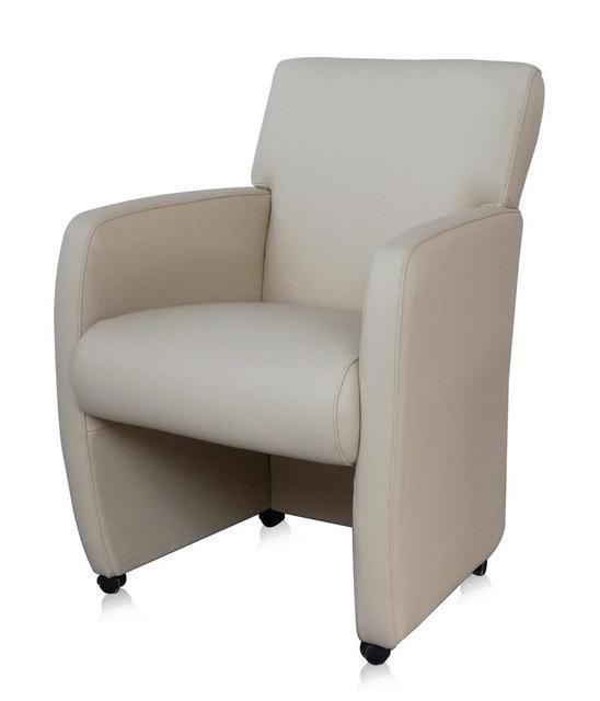 Stuhl Mit Armlehne Weiß  Stuhl auf Rollen mit moderner Armlehne in weiß Sofas