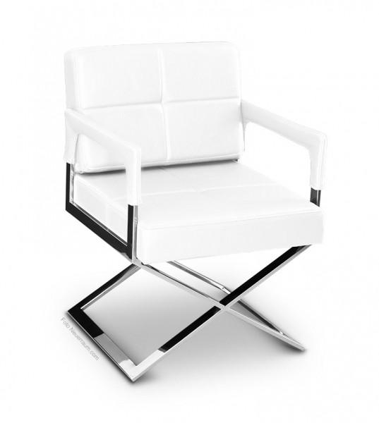 Stuhl Mit Armlehne Weiß  Weisser Leder Esstisch Stuhl mit Armlehne NEUERRAUM
