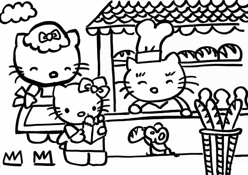 Süßigkeiten Ausmalbilder  Ausmalbilder Hello Kitty 22