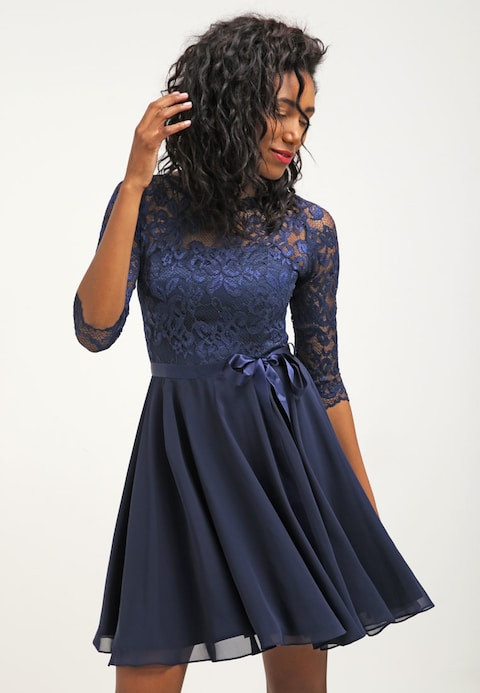 Swing Kleider  Swing Cocktailkleid festliches Kleid dark blue Zalando